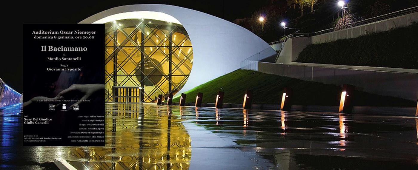All'Auditorium Oscar Niemeyer il Baciamano di Manlio Santanelli con la regia di Giovanni Esposito